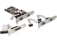 Delock  PCI-E card 4 x serial, 1x par. karte