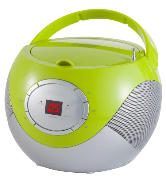 ADLER CD Player (boombo x) green AD1125G magnetola