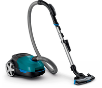 Philips Performer Active Vacuum cleaner with bag FC8579/09 AirflowMax technology TriActive+ nozzle Hard floors nozzle Remote control Putekļu sūcējs