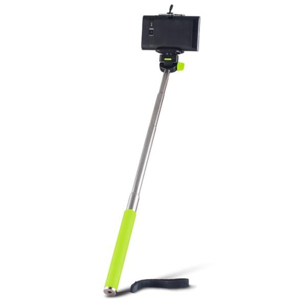 Forever MP-300 Bluetooth Selfie Stick 95cm - universāla stiprinājuma statīvs bez Pults Zaļš Selfie Stick