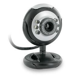 4World 07610 Easy Z200 2Mpix USB Datora Web Kamera ar 6 LED Apmaismojumu + mikrofonu Melna web kamera
