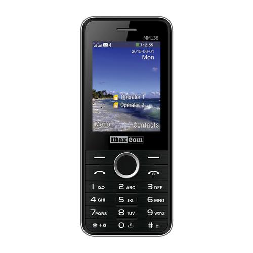 MaxCom MM136 Classic Dual SIM Black/Silver Mobilais Telefons