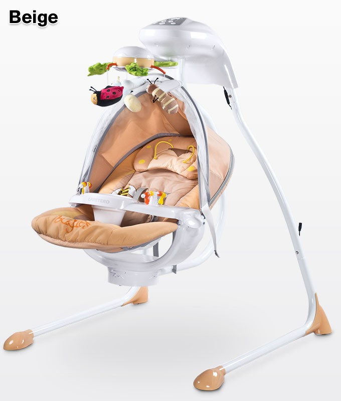 Caretero Swing electric Bugies Beige šūpuļkrēsls