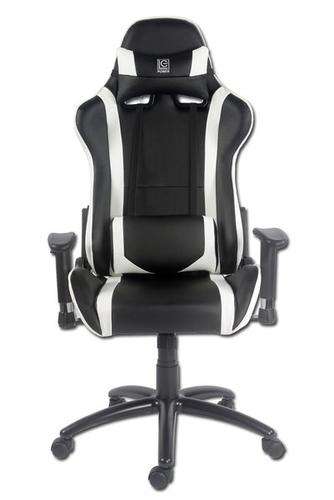 LC-Power Gaming Chair Black-White (LC-GC-2) datorkrēsls, spēļukrēsls