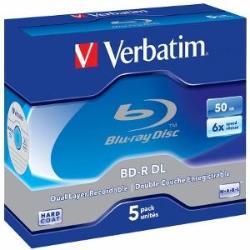 BluRay BD-R Dual Layer Verbatim [ jewel case 5   50GB   6x   Scratchguard Plus ] matricas
