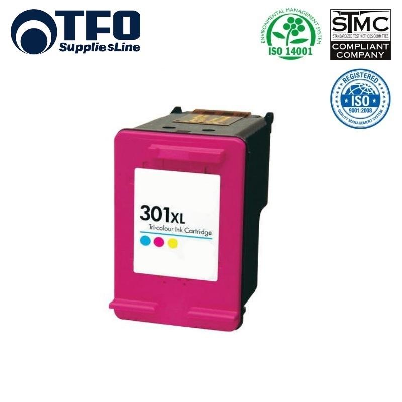 TFO HP 301XL CH564EE krāsains Tintes kārtridžs 18ml priekš DeskJet 1050 2050 3050 uc HQ Premium Analogs aksesuārs mobilajiem telefoniem