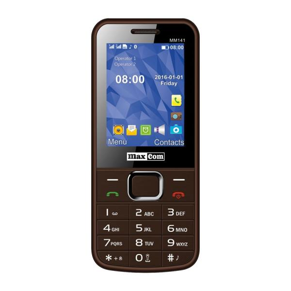 MAXCOM MM141 Dual sim black/brown Mobilais Telefons