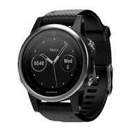 Garmin fenix 5S silver with black Armband 42mm sporta pulkstenis