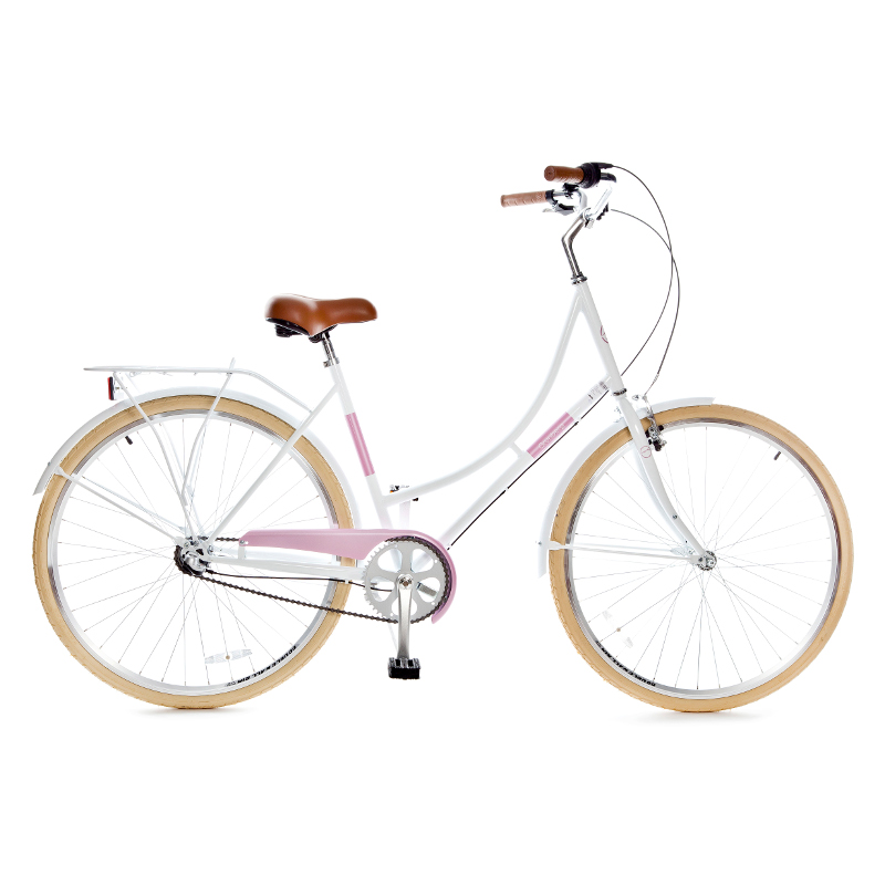 Holland 3 speed 700Cx35C, white/pink 28'' Classic Pretty NX3 Pilsētas velosipēds