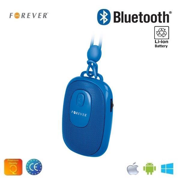 Forever BS-110 Bezvadu Bluetooth Ceļojumu Skaļrunis ar Selfie Foto pogu un silikona siksniņu Zils pārnēsājamais skaļrunis