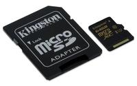 Kingston 64GB microSDXC Class U3 UHS-I 90R/45W + SD Adapter atmiņas karte