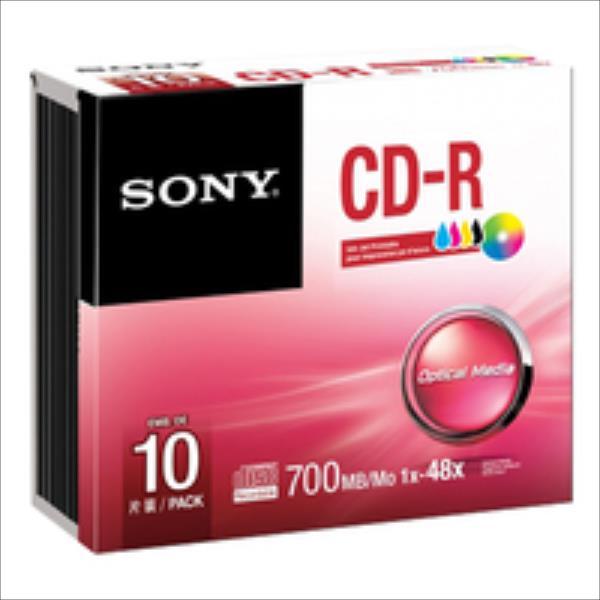 Sony CD-R 700 MB (80 min)   48x [Jewel Case 10 pcs] INKJET PRINTABLE matricas