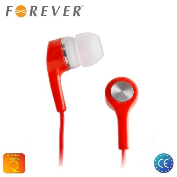 Forever universālas X-Bass 3.5mm In-Ear Austiņas priekš MP3/Mp4 mūzikas bez mikrofona Sarkanas