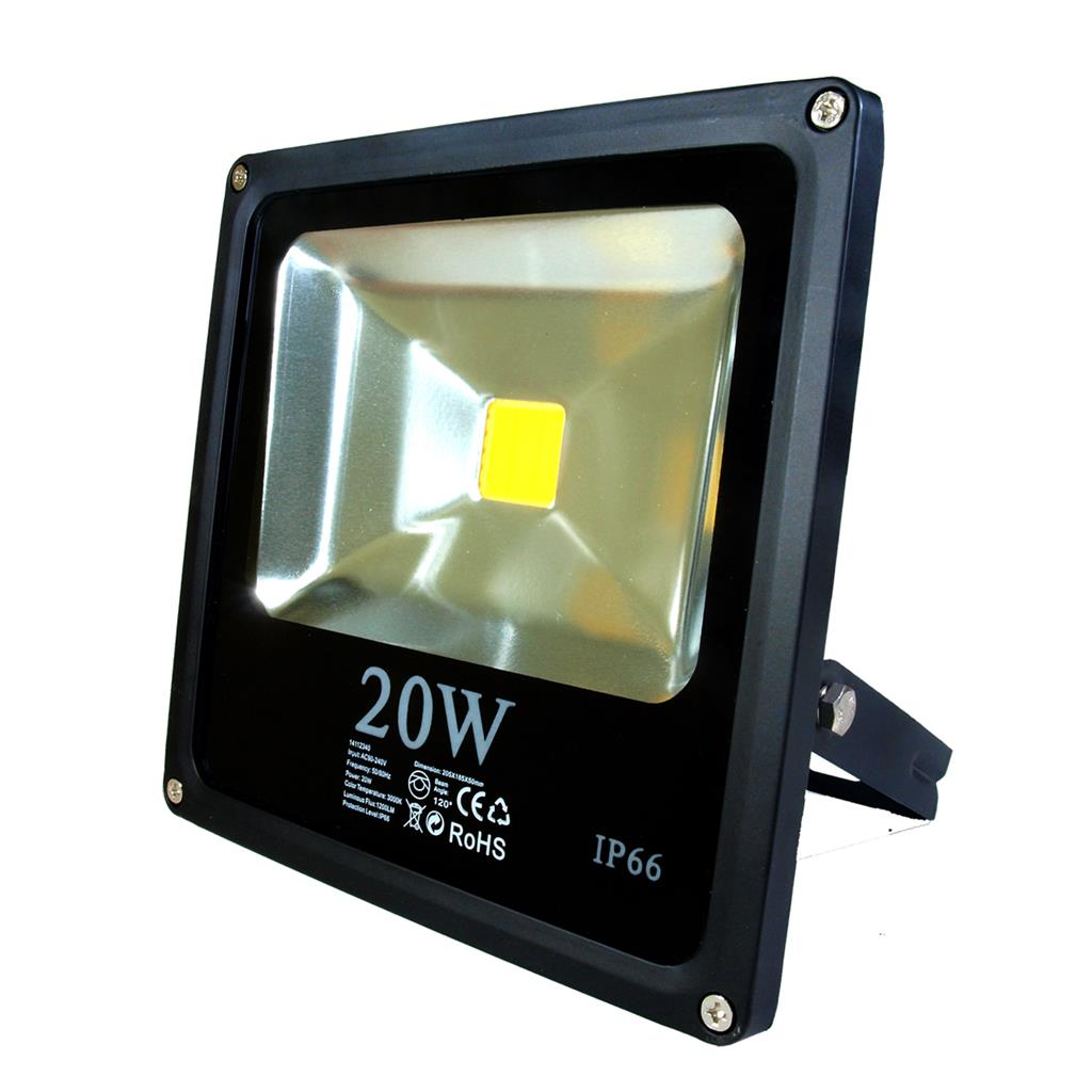 ART External lamp LED 20W, SLIM, IP66,AC80-265V,black, 3000K-warm white apgaismes ķermenis