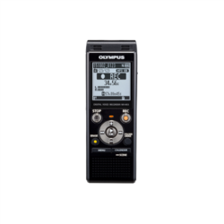 Olympus WS-853 Digital Voice Recorder with MP3 Player, 8GB internal memo, inc. Rechargeable Ni-MH Batteries and Case, Black diktafons