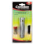 Camelion CT-4010 Aluminium Flashlight 1x 3 Watt LED (silver)/ 110-130 Lumen/ Visible distance: 100m/ kabatas lukturis