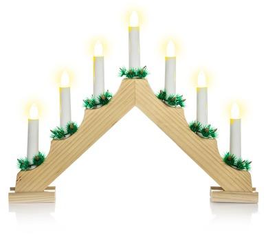 7 LED spuldzīšu elektriskais svecīšu turētājs RXL 134 7 LED