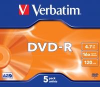 Verbatim DVD-R 4.7GB 16X AZO MATT SILVER jewel box - 43519 matricas