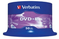 Verbatim DVD+R 4.7GB 16X 50pack AZO MATT SILVER cake box - 43550 matricas
