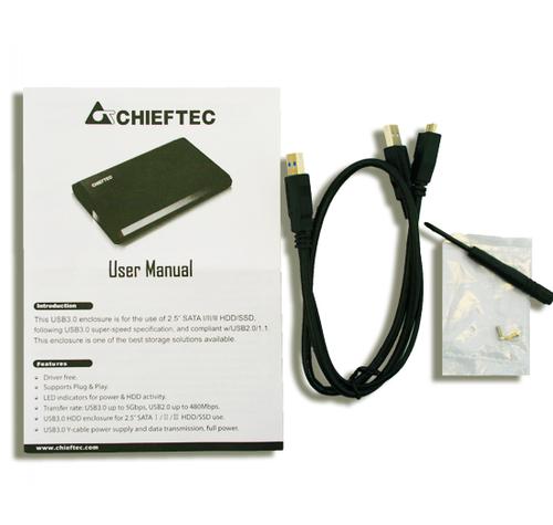 CHIEFTEC CEB-2511-U3 ALU.BOX FOR 2.5inch HDD piederumi cietajiem diskiem HDD