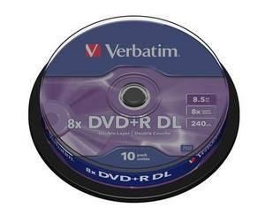 Verbatim 8.5GB Double Layer 8x AZO, 10 Pack Spindle matricas