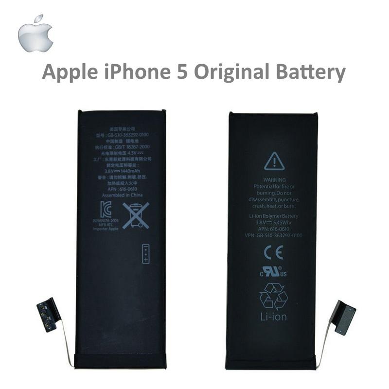 Apple iPhone 5 Original Battery Li-Ion 1440mAh 616-0611 (M-S akumulators, baterija mobilajam telefonam