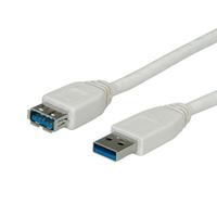 Value USB 3.0 Cable, Type A M - A F 1.8 m USB kabelis