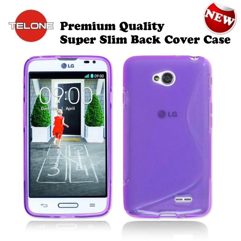 Telone Back Case S-Case gumijots telefona apvalks LG D405 aksesuārs mobilajiem telefoniem