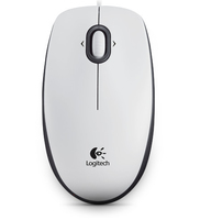 Logitech B100 Optical USB White Datora pele