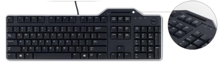 Dell KB-813 Smartcard Reader Keyboard RU klaviatūra