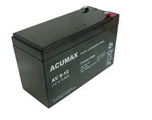 ACUMAX EMU BATTERY 12V 9AH VRLA/AV9-12 T2 UPS aksesuāri