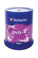 Verbatim DVD+R 4.7GB 16X 100pack AZO MATT SILVER cake box - matricas
