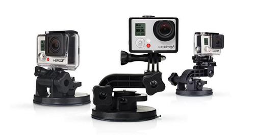 Go Pro stiprinājums vakuma Suction Cup Hero3+ Sporta kameru aksesuāri