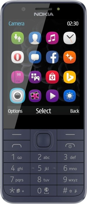 Nokia 230 Dual-SIM midnight blue Mobilais Telefons
