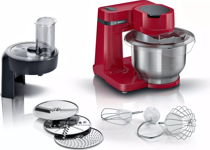 Bosch Serie 2 MUM food processor 700 W 3.8 L Red Virtuves kombains