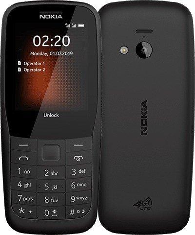 Nokia 220 4G Dual-SIM black Mobilais Telefons