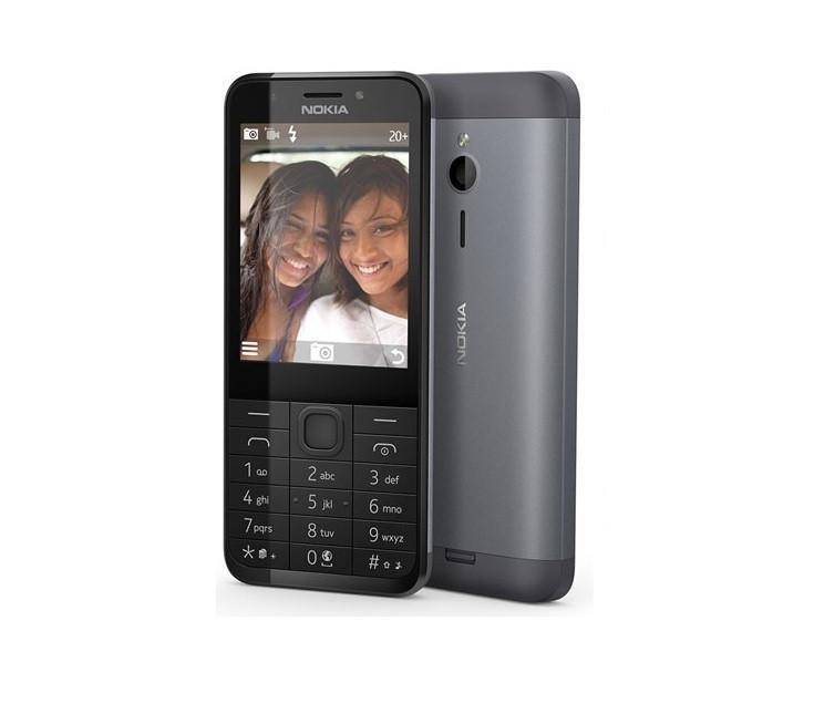 """Nokia 230 Dark Silver, 2.8 """", TFT, 240 x 320 pixels, 16 MB, Dual SIM, Mini-SIM, Bluetooth, 3.0, USB version microUSB 1.1, Built-in Mobilais Telefons"""