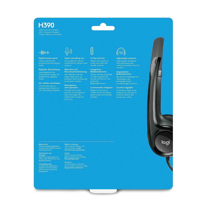 Logitech H390, USB, Black austiņas