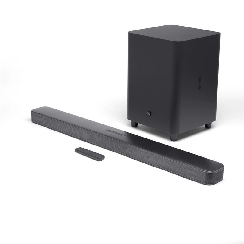JBL JBLBAR51IMBLKEP 5.1-ch Soundbar with wireless active subwoofer, Bluetooth and HDMI 6925281957499 mājas kinozāle