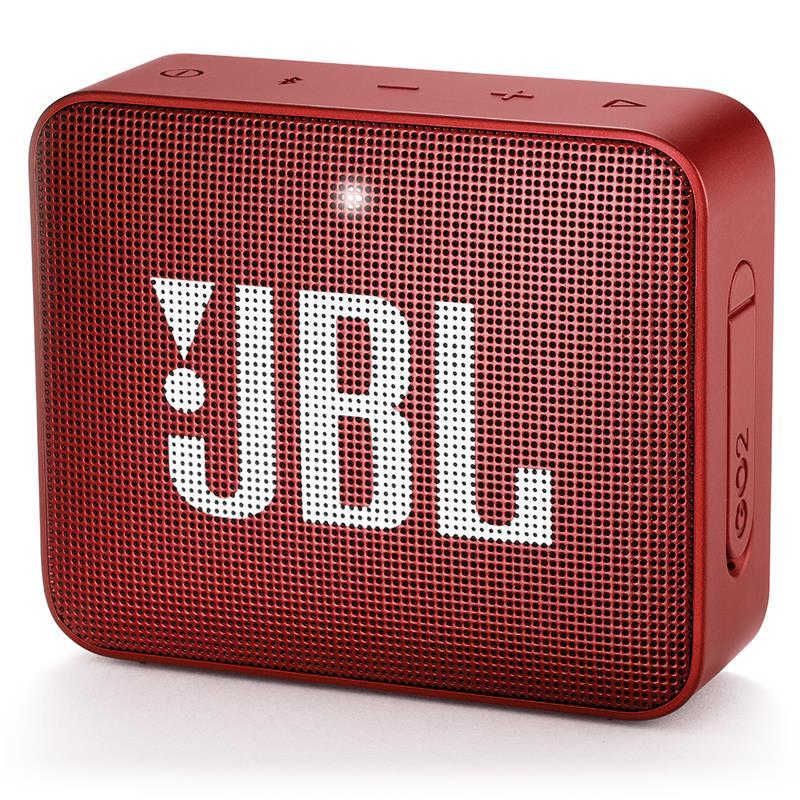 JBL Go 2, compact portable speaker with battery, IPX7 waterproof, Red pārnēsājamais skaļrunis