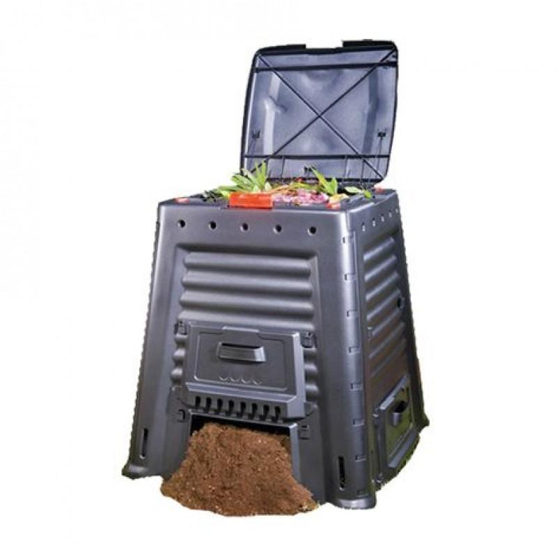 Keter Komposta kaste Mega Composter 650L Without Base melna 29184214900 Dārza mēbeles