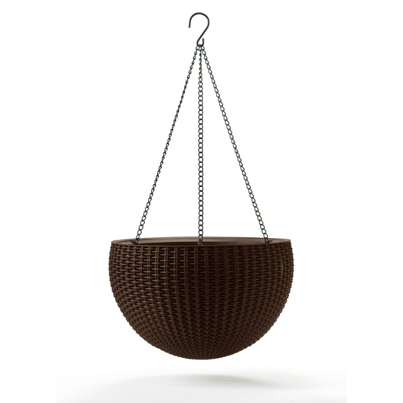 Keter Puķu pods karināms Hanging Sphere Planter brūns (35 x 35 x 22cm) 29199246590