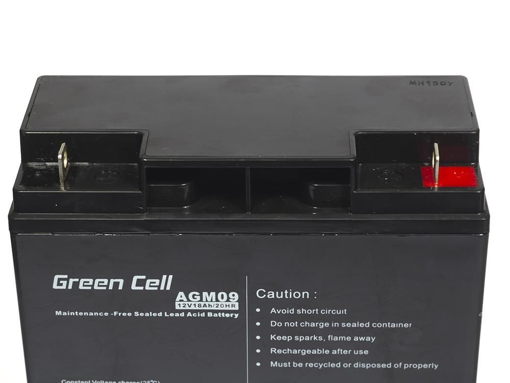 Green Cell Akumulator AGM 12V 18Ah (AGM09) UPS aksesuāri
