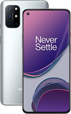 OnePlus 8T - 6.55 - 128GB, mobile phone (Lunar Silver, Android 10, 8 GB DDR4X) 5011101268 Mobilais Telefons