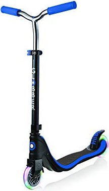 GLOBBER Flow 125 with illuminated rollers, scooter blue - 472-100-2 Skrejriteņi