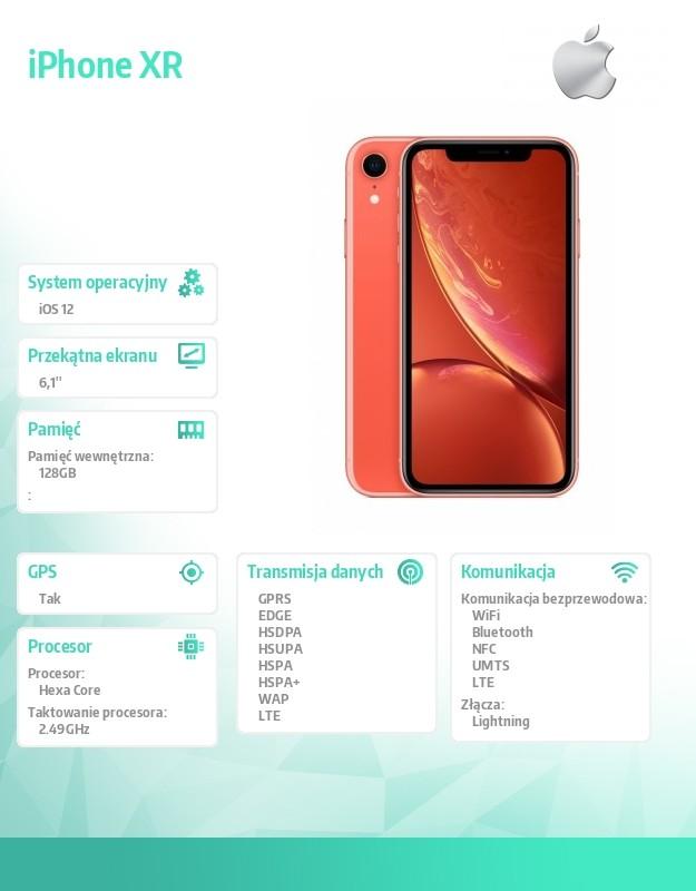 IPHONE XR CORAL 128GB MH7Q3PM/A Mobilais Telefons