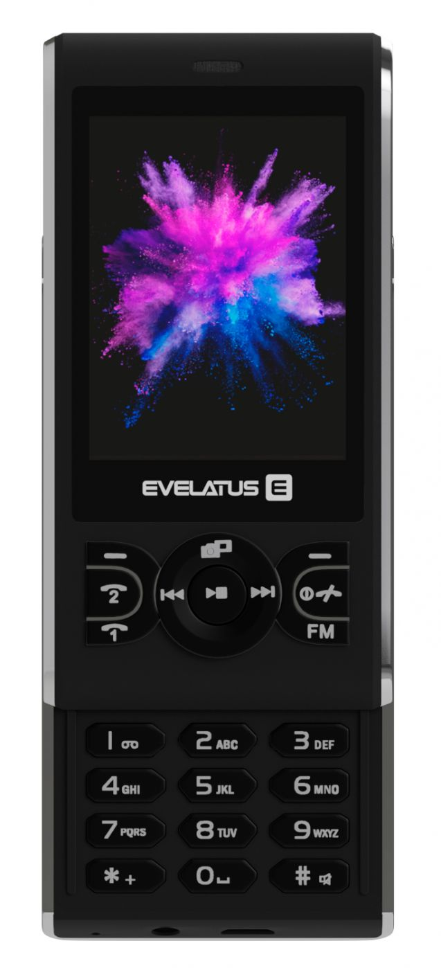 Evelatus  MYRIAD DS Graphite Black Mobilais Telefons