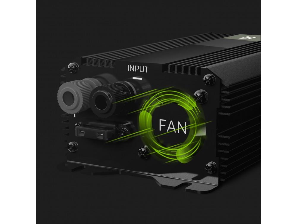 Green Cell Registered  Car Power Inverter Converter 12V to 230V 500W/1000W with USB Strāvas pārveidotājs, Power Inverter