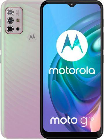 Smartfon Motorola Moto G10 64 GB Dual SIM Bialy  (Moto g10 4/64GB Iridescent Pearl (Perlowy)) Moto g10 4/64GB Iridescent Pearl (Perlowy) Mobilais Telefons