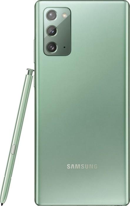 Samsung Galaxy Note20 5G - 6.7 - 256GB, Android (Green, Dual SIM, 8 GB DDR 5) SM-N981BZGGEUB Mobilais Telefons